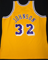 Magic Johnson Autographed LA Lakers Mitchell & Ness Authentic Jersey