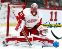Jared Coreau Autographed Detroit Red Wings 8x10 Photo #1 - 2016/17 Action