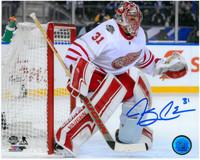 Jared Coreau Autographed Detroit Red Wings 8x10 Photo #2 - Centennial Classic