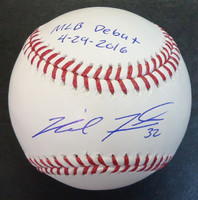 "Michael Fulmer Autographed Baseball inscribed ""MLB Debut 4-29-2016"" - Official Major League Ball"