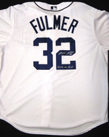 "Michael Fulmer Autographed Detroit Tigers Home Jersey Inscribed ""2016 AL ROY"""