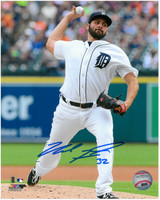 Michael Fulmer Autographed Detroit Tigers 8x10 Photo #1 - 2016 Home Wind Up