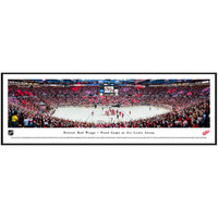 Final Game at Joe Louis Arena Panoramic Print Framed