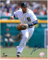 Andrew Romine Autographed Detroit Tigers 8x10 Photo #1 - Fielding Frenzy