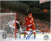 Evgeny Svechnikov Autographed 8x10 Photo #1 - Game Winning Goal 4/3/17