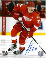 Evgeny Svechnikov Autographed 8x10 Photo #2 - NHL Debut Action
