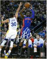 Reggie Jackson Autographed Detroit Pistons 8x10 Photo #1 - Jump Shot