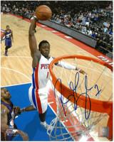 Reggie Jackson Autographed Detroit Pistons 8x10 Photo #2 - Dunking