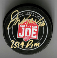 "Joe Kocur Autographed Farewell to the Joe Official Game Puck Inscribed ""2519 PIM"""