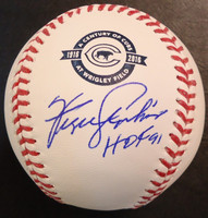 """Fergie Jenkins Autographed Baseball - Official Cubs 100 Years Ball Inscribed """"HOF 91"""""""