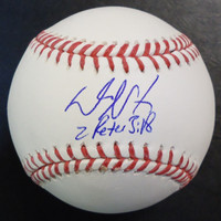 "Daniel Norris Autographed Baseball - Official Major League Ball Inscribed ""2 Peter 3:18"""