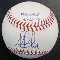 "Dixon Machado Autographed Baseball - Official Major League Ball Inscribed ""MLB Debut 5/25/15"""