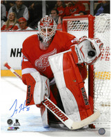 Jimmy Howard Autographed Detroit Red Wings 16x20 Photo #3 - Vertical Home