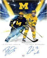 Dylan Larkin & Zach Werenski Autographed Michigan 16x20 Photo #1