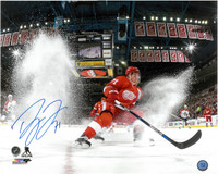 Dylan Larkin Autographed Detroit Red Wings 16x20 Photo #1 - Horizontal Ice Spray