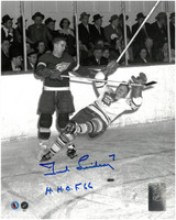 Ted Lindsay Autographed Detroit Red Wings 8x10 Photo #8 with HOF Inscription