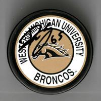 Danny DeKeyser Autographed Western Michigan University Souvenir Puck