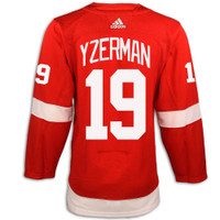 Detroit Red Wings Adidas Authentic Red Jersey - Yzerman #19