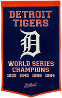 Detroit Tigers Wool Dynasty Banner