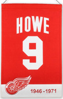 Gordie Howe Commemorative Wool Banner