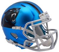 Carolina Panthers Blaze Alternate Speed Riddell Mini Helmet