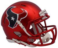 Houston Texans Blaze Alternate Speed Riddell Mini Helmet