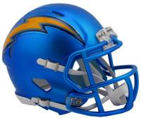 Los Angeles Chargers Blaze Alternate Speed Riddell Mini Helmet