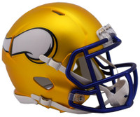 Minnesota Vikings Blaze Alternate Speed Riddell Mini Helmet