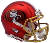 San Francisco 49ers Blaze Alternate Speed Riddell Mini Helmet