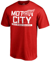 Detroit Red Wings Men's Red Fanatics Hometown Collection Local T-Shirt