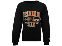 Men's Original 6 Old Time Hockey Daxton Raglan Crew Neck Sweatshirt