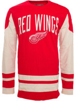 Detroit Red Wings Men's Old Time Hockey Dufferin Long Sleeve