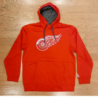 Detroit Red Wings Men's Adidas Red Pullover Hoodie