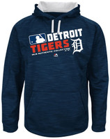 Detroit Tigers Men's Majestic On-Field Team Choice Streak Therma Base Fleece Hoodie - Home