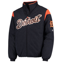 Detroit Tigers Men's Majestic Road On-Field Therma Base Thermal Full-Zip Jacket