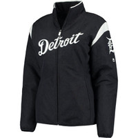 Detroit Tigers Women's Majestic Home On-Field Therma Base Thermal Full-Zip Jacket