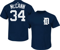 Detroit Tigers Men's Majestic James McCann Name & Number Player T-shirt
