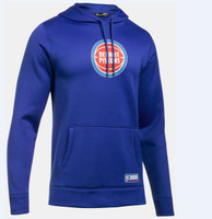 Detroit Pistons Men's Under Armour Blue Combine Hoodie