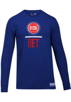 Detroit Pistons Men's Under Armour Blue Combine Long Sleeve T-Shirt