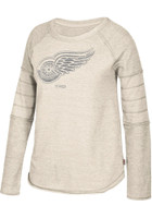 Detroit Red Wings Women's CCM Grey Raglan Crew Sweatshirt