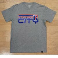 Detroit Pistons Men's 47 Brand Slate Grey Motor City  T-Shirt