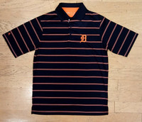 Detroit Tigers Men's Antigua Stripe Polo