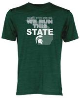 Michigan State University Men's Blue 84 We Run This State T-shirt