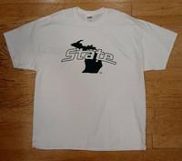 Michigan State University Men's J2 White T-shirt