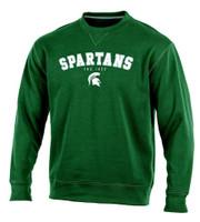 "Michigan State University Men's Champion Green ""Safety"" Crew Sweatshirt"