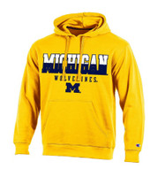 "University of Michigan Men's Champion Maize ""Huddle Up"" Hoodie"