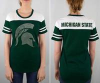 Michigan State University Women's e5 Studded Logo T-shirt