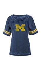 University of Michigan Women's 5th & Ocean Blue Burnout T-shirt