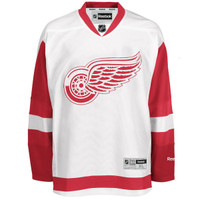 Detroit Red Wings Men's Reebok Replica Road Jersey - White
