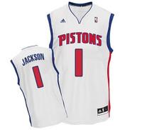 Detroit Pistons Men's Adidas Reggie Jackson Home Jersey - White